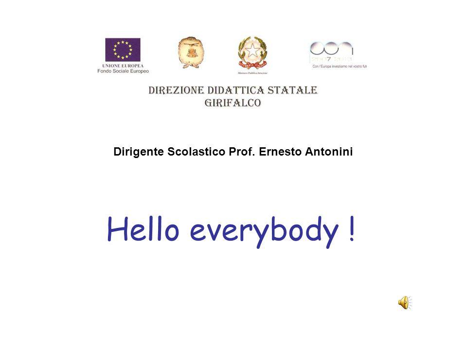Dirigente Scolastico Prof. Ernesto Antonini Hello everybody !