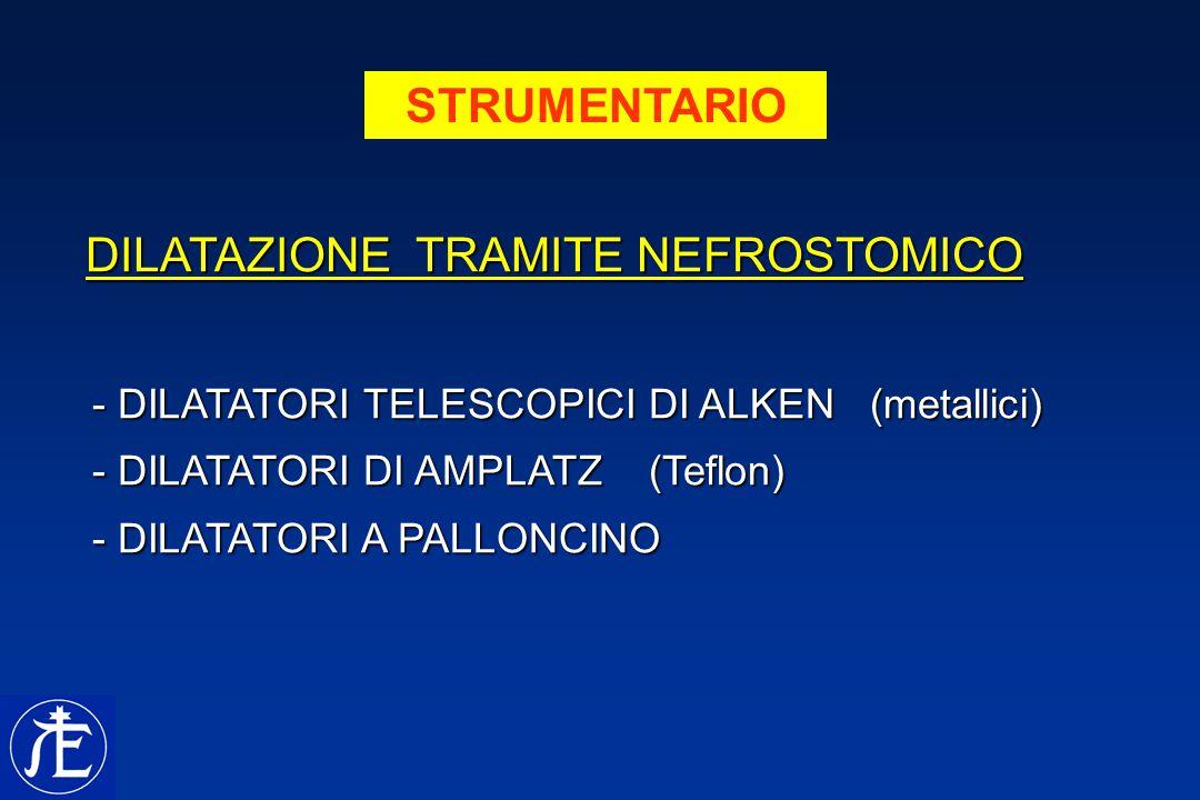STRUMENTARIO DILATAZIONE TRAMITE NEFROSTOMICO DILATAZIONE TRAMITE NEFROSTOMICO - DILATATORI TELESCOPICI DI ALKEN (metallici) - DILATATORI TELESCOPICI