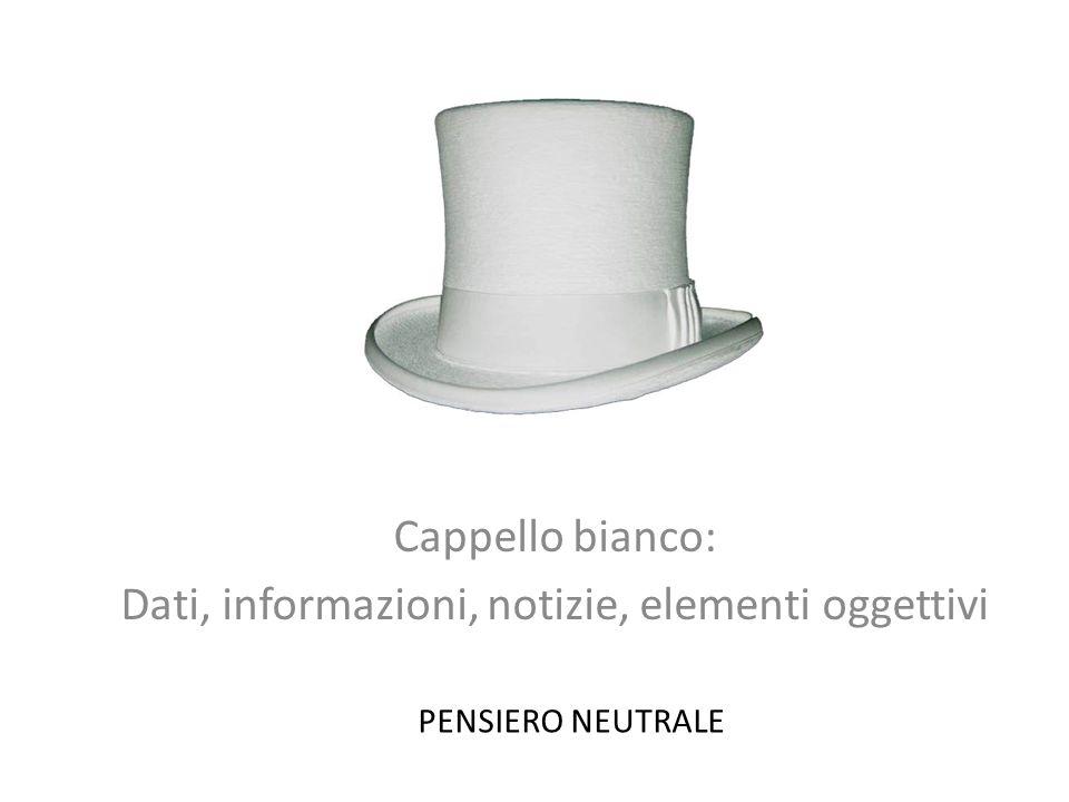 Cappello bianco: Dati, informazioni, notizie, elementi oggettivi PENSIERO NEUTRALE
