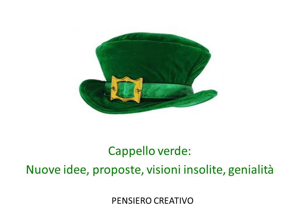 Cappello verde: Nuove idee, proposte, visioni insolite, genialità PENSIERO CREATIVO