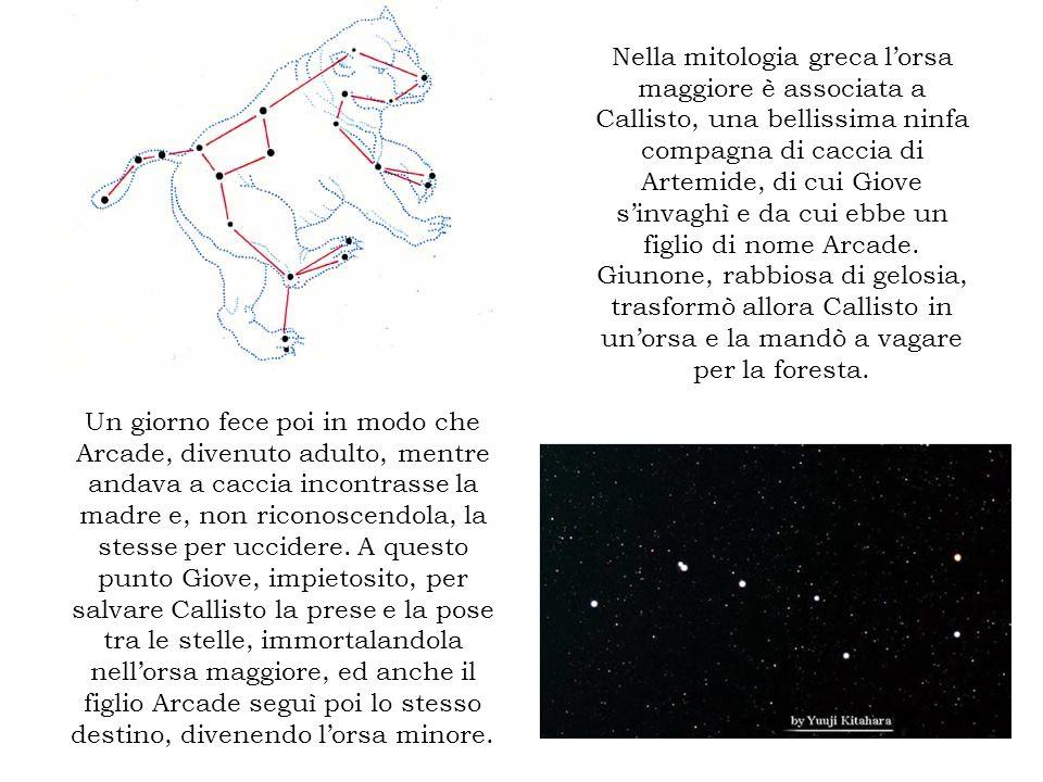 Nella mitologia greca lorsa maggiore è associata a Callisto, una bellissima ninfa compagna di caccia di Artemide, di cui Giove sinvaghì e da cui ebbe
