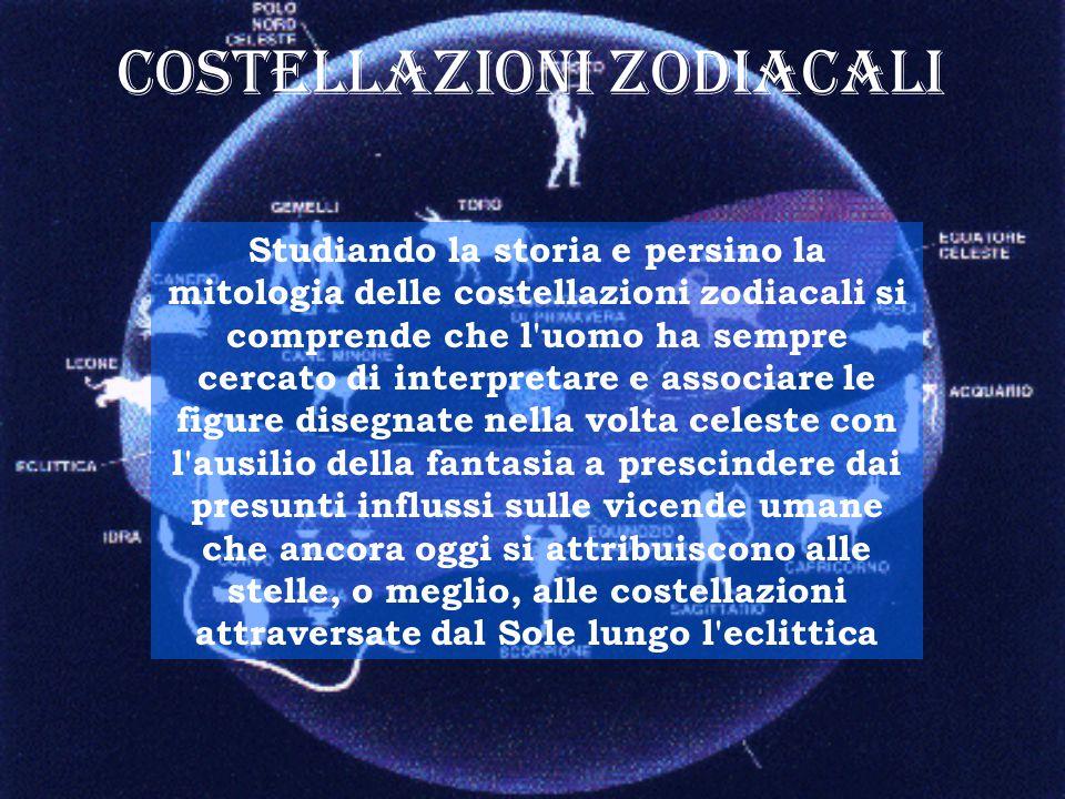 Costellazioni zodiacali Studiando la storia e persino la mitologia delle costellazioni zodiacali si comprende che l'uomo ha sempre cercato di interpre
