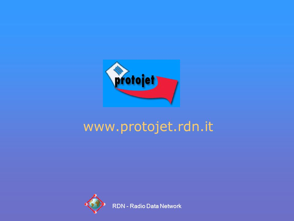 RDN - Radio Data Network www.protojet.rdn.it