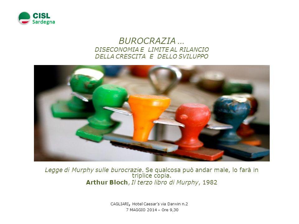 Sardegna Un organizzazione burocratica è un organizzazione che non arriva a correggersi in funzione dei propri errori.