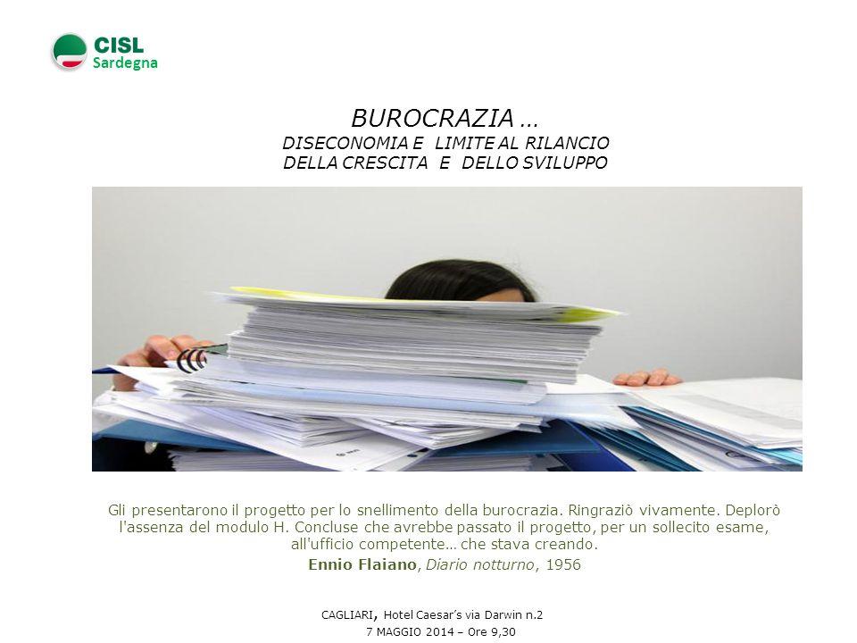 Sardegna Gli presentarono il progetto per lo snellimento della burocrazia.