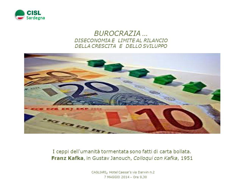 Sardegna L unica cosa che ci salva dalla burocrazia è l inefficienza.