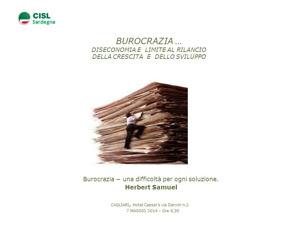 Sardegna Burocrazia una difficoltà per ogni soluzione.