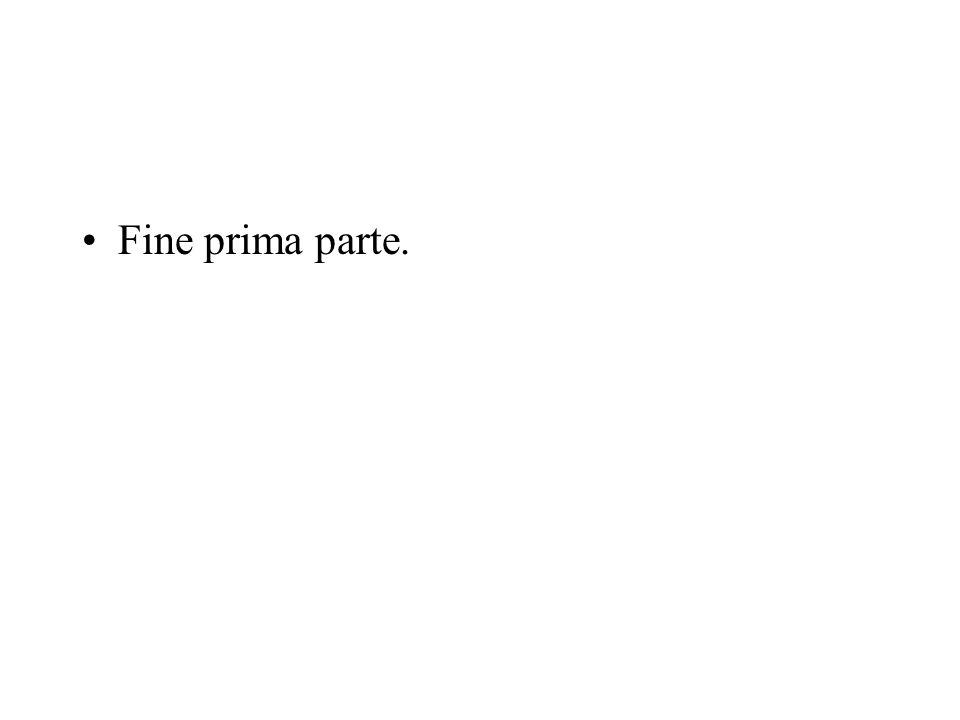 Fine prima parte.