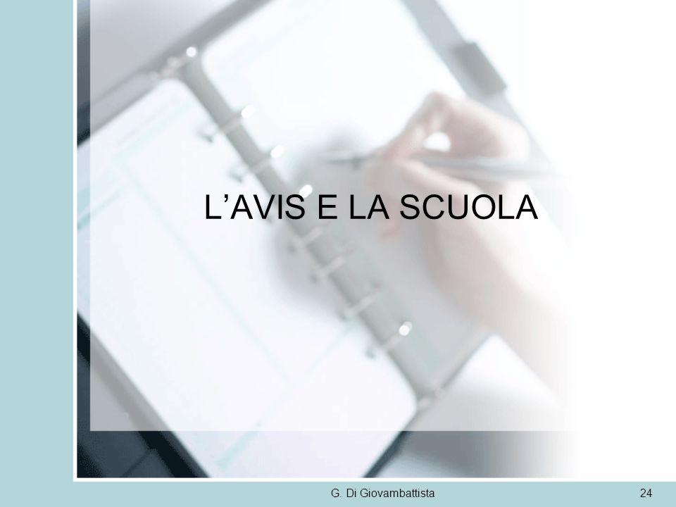 LAVIS E LA SCUOLA G. Di Giovambattista24