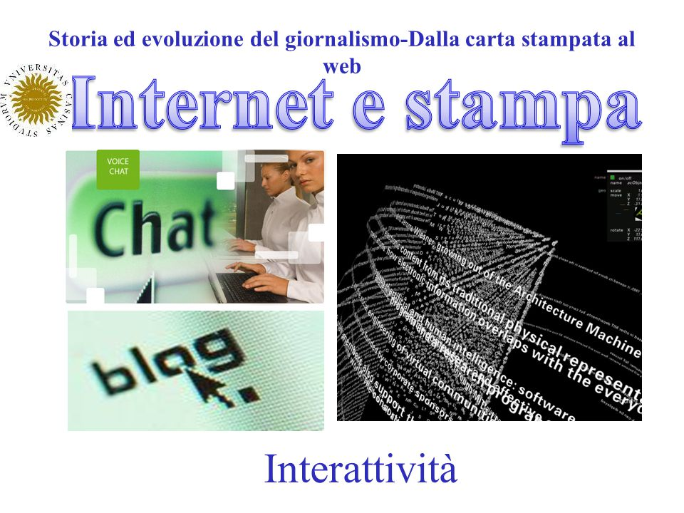 Storia ed evoluzione del giornalismo-Dalla carta stampata al web Interattività