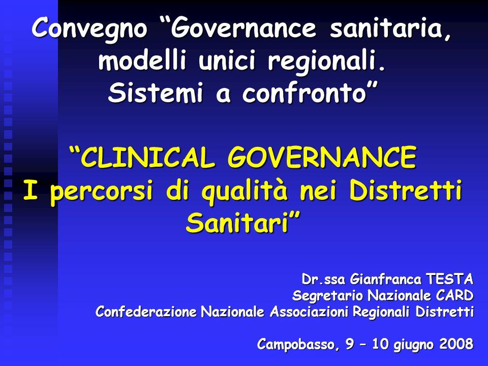 Convegno Governance sanitaria, modelli unici regionali.