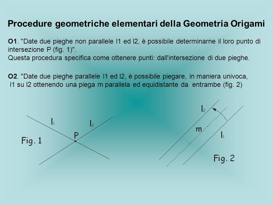 Procedure geometriche elementari della Geometria Origami O1.