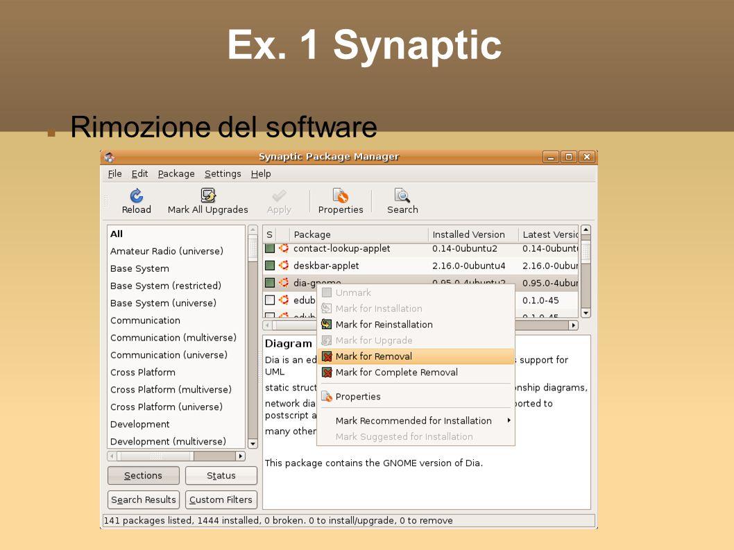 Ex. 1 Synaptic Rimozione del software