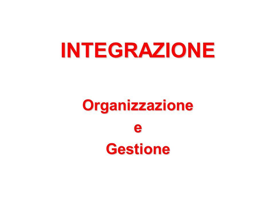INTEGRAZIONEOrganizzazioneeGestione