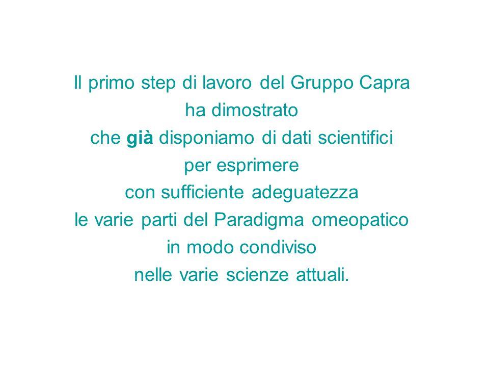 Il primo step di lavoro del Gruppo Capra ha dimostrato che già disponiamo di dati scientifici per esprimere con sufficiente adeguatezza le varie parti