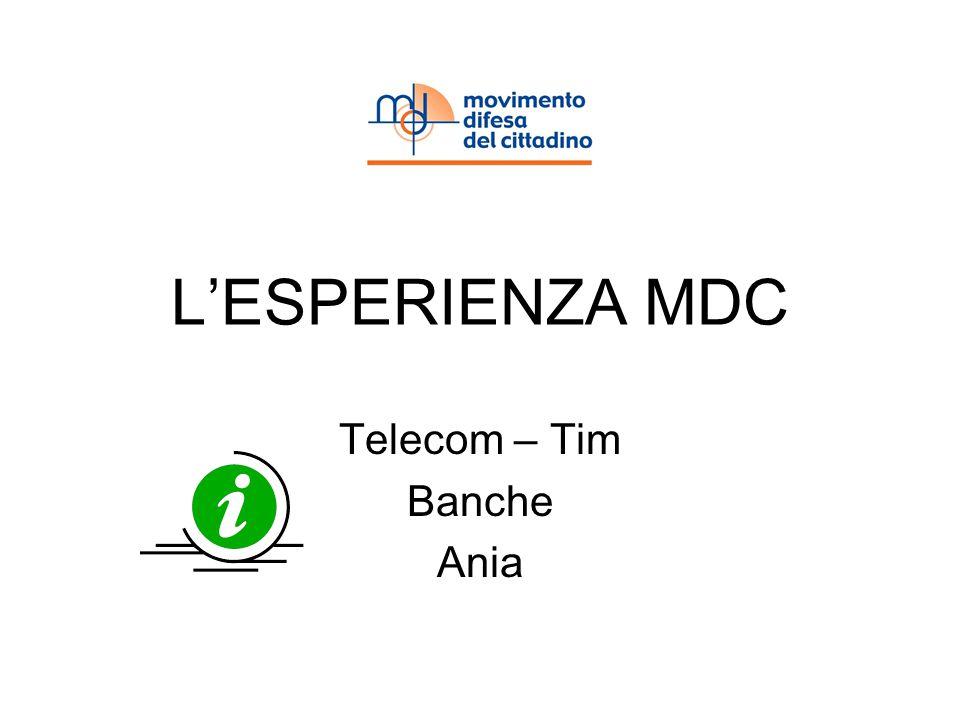 LESPERIENZA MDC Telecom – Tim Banche Ania