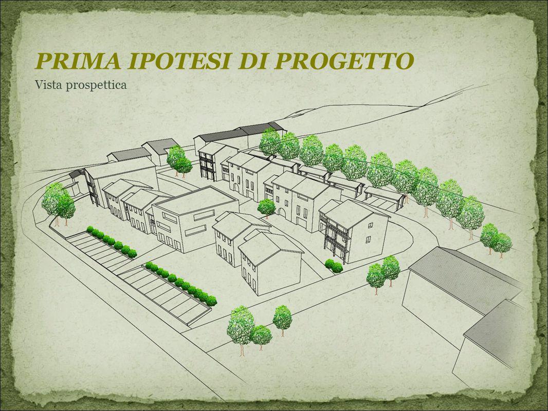 PRIMA IPOTESI DI PROGETTO Vista prospettica