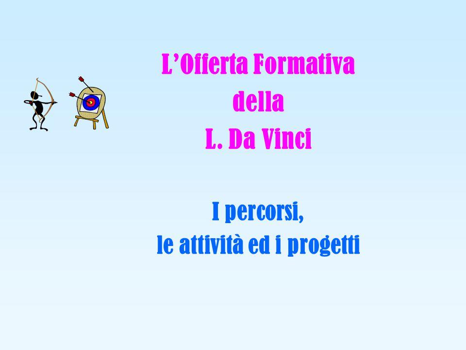 LOfferta Formativa della L. Da Vinci I percorsi, le attività ed i progetti