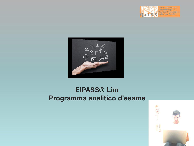 EIPASS® Lim Programma analitico desame