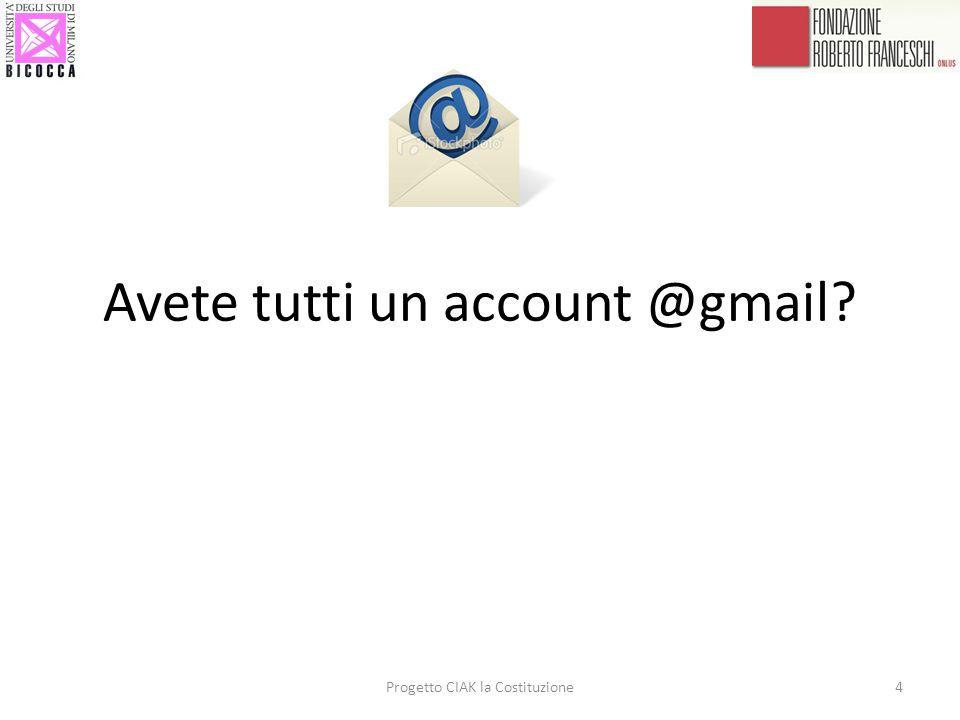 Avete tutti un account @gmail? 4Progetto CIAK la Costituzione