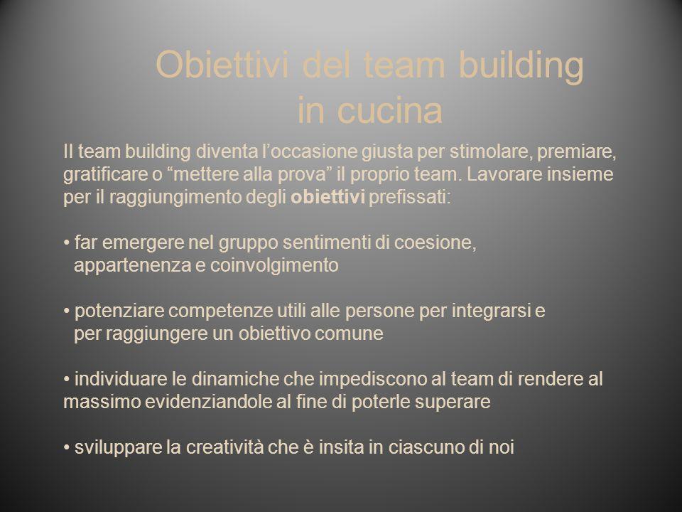 Il team building diventa loccasione giusta per stimolare, premiare, gratificare o mettere alla prova il proprio team. Lavorare insieme per il raggiung