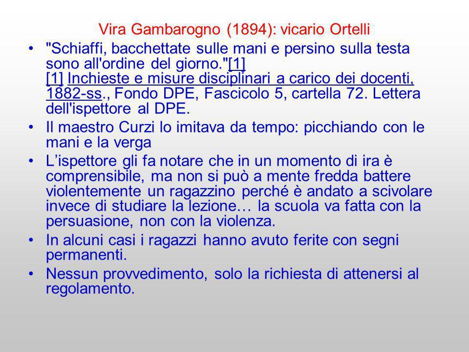 Vira Gambarogno (1894): vicario Ortelli