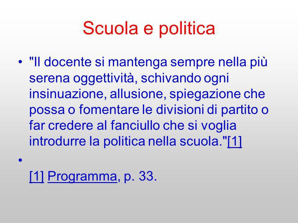 Scuola e politica