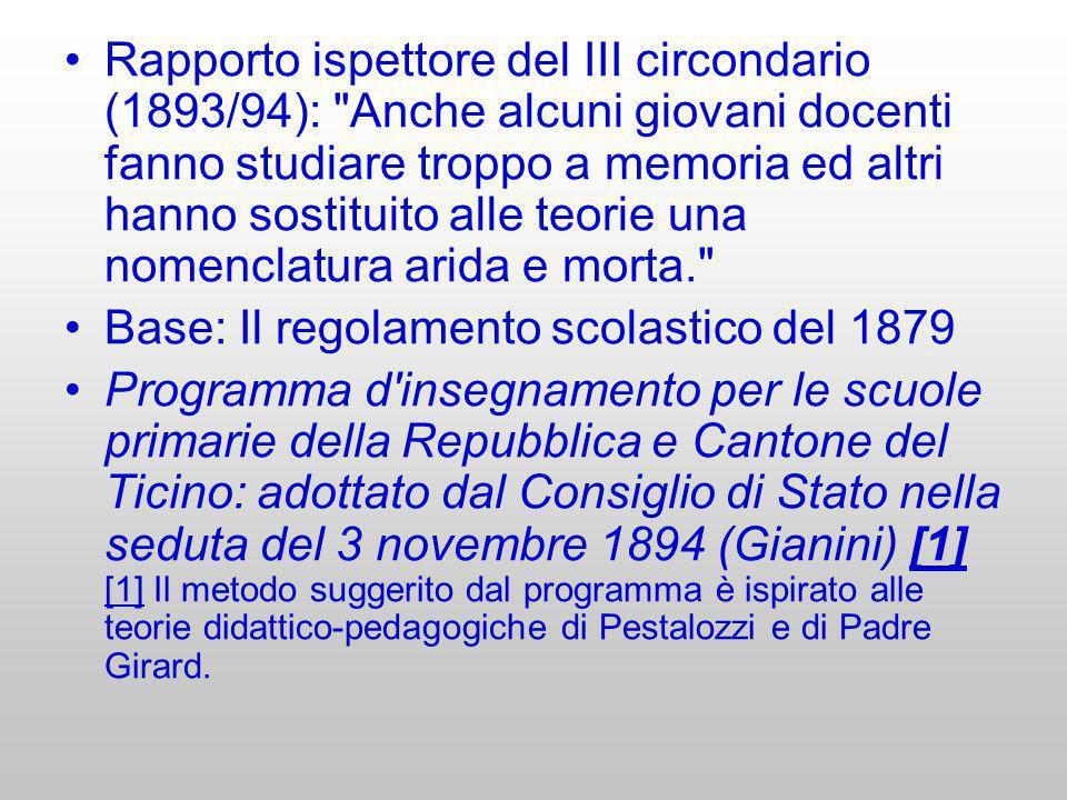 Rapporto ispettore del III circondario (1893/94):