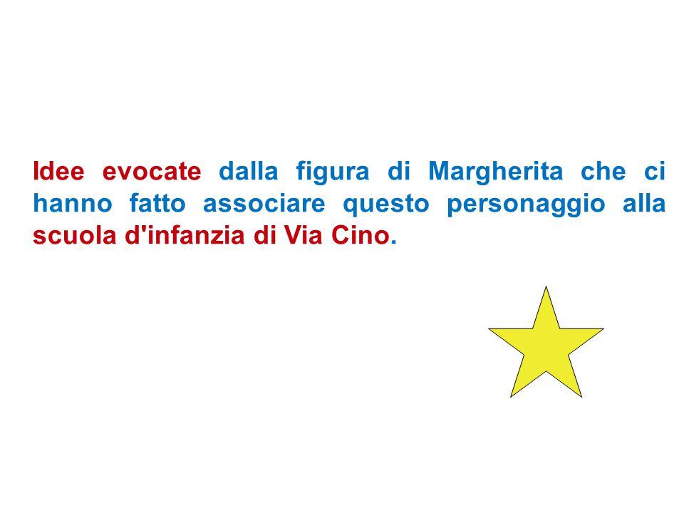 Idee evocate dalla figura di Margherita che ci hanno fatto associare questo personaggio alla scuola d infanzia di Via Cino.