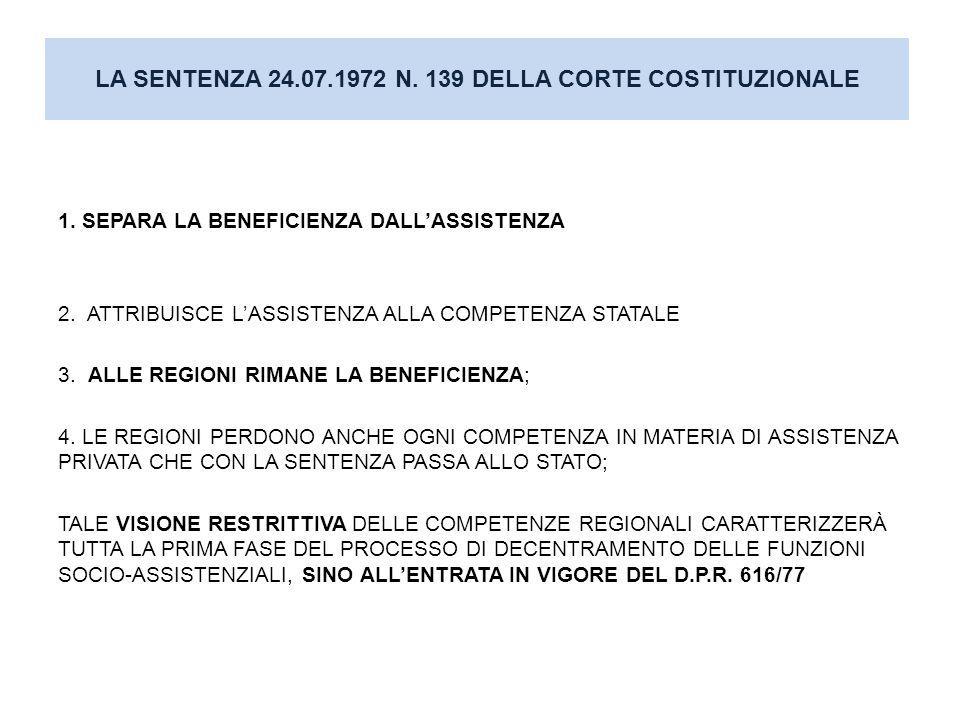 E QUESTA LA PRIMA FASE DEL DECENTRAMENTO (REGIONALIZZAZIONE CON DECRETI DELEGATI DEL 1972) D.P.R.