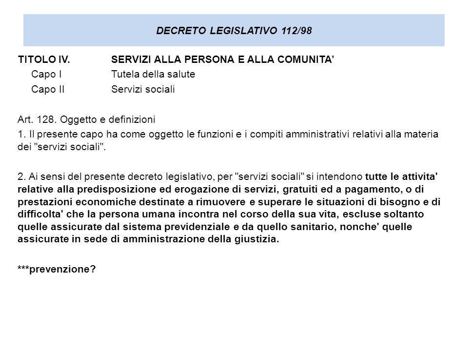 DECRETO LEGISLATIVO 112/98 Art.129.