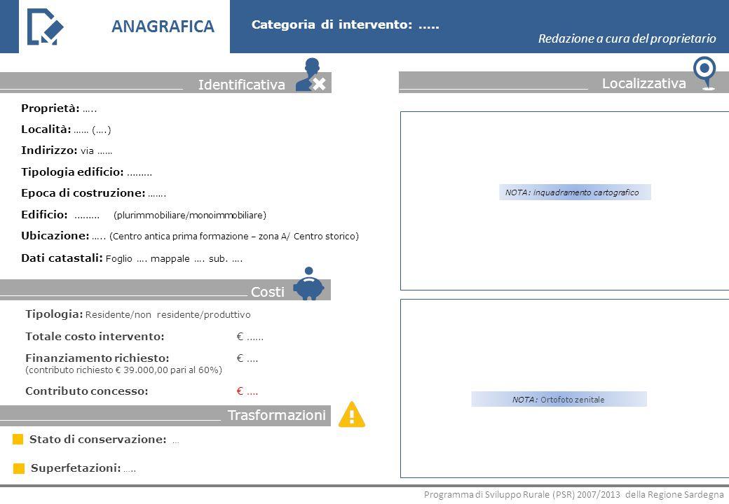 INTERVENTO Descrizione degli interventi Redazione a cura del GAL Fondazioni Programma di Sviluppo Rurale (PSR) 2007/2013 della Regione Sardegna Categoria di intervento: …..