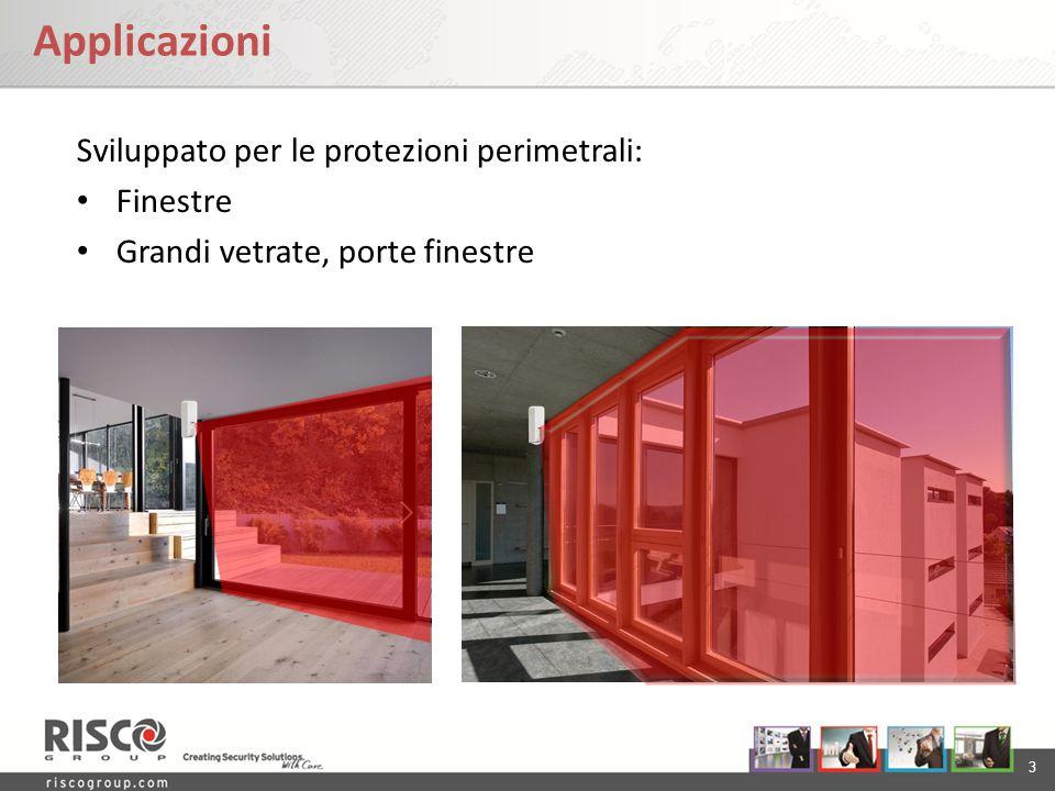 3 Applicazioni Sviluppato per le protezioni perimetrali: Finestre Grandi vetrate, porte finestre