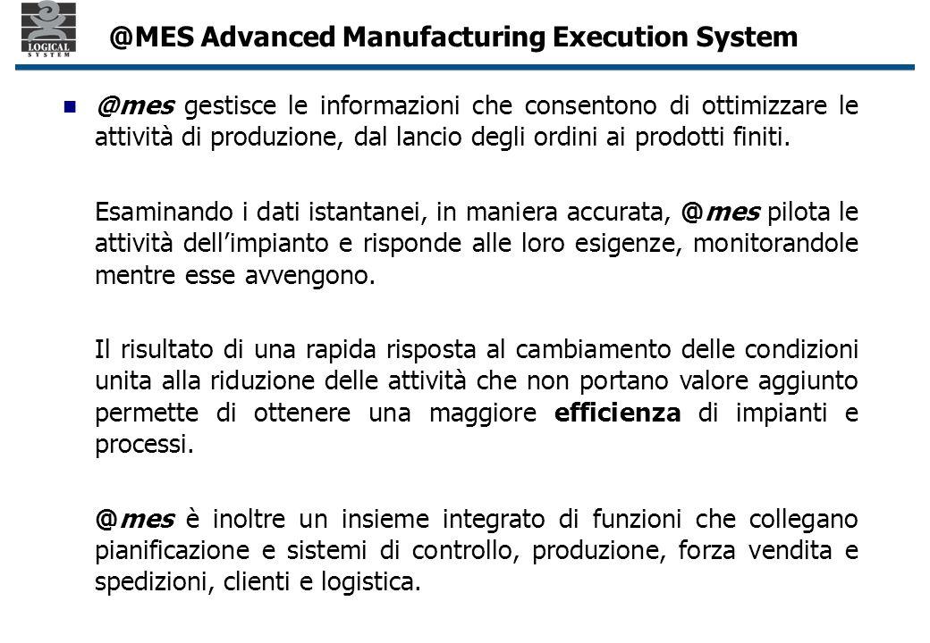 @mes gestisce le informazioni che consentono di ottimizzare le attività di produzione, dal lancio degli ordini ai prodotti finiti.