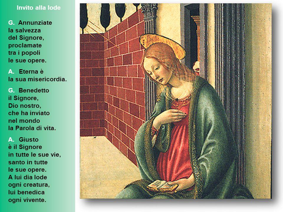 Inno: Beata perché hai creduto La tua prima parola, Maria, ti chiediamo daccogliere in cuore: come sia possibile ancora concepire pur noi il suo Verbo.