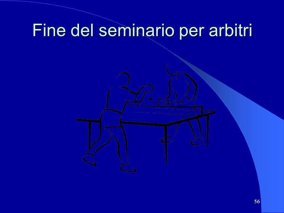 56 Fine del seminario per arbitri