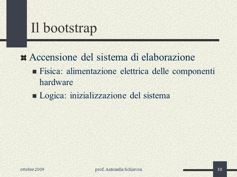 ottobre 2009prof. Antonella Schiavon9 Classificazione del sw Software proprietario: è proibita la sua ridistribuzione o la modifica Freeware: sw che p