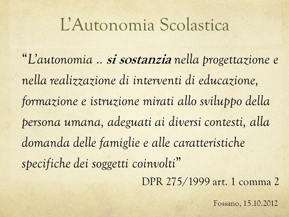 LAutonomia Scolastica Lautonomia..