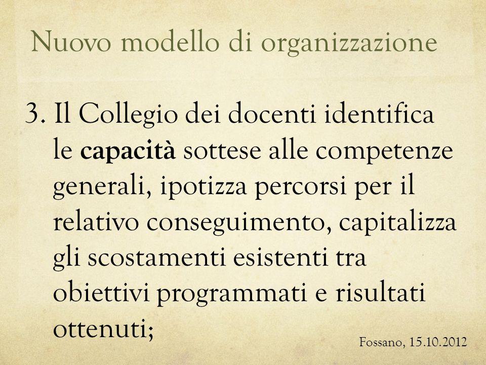 Nuovo modello di organizzazione Fossano, 15.10.2012 3.
