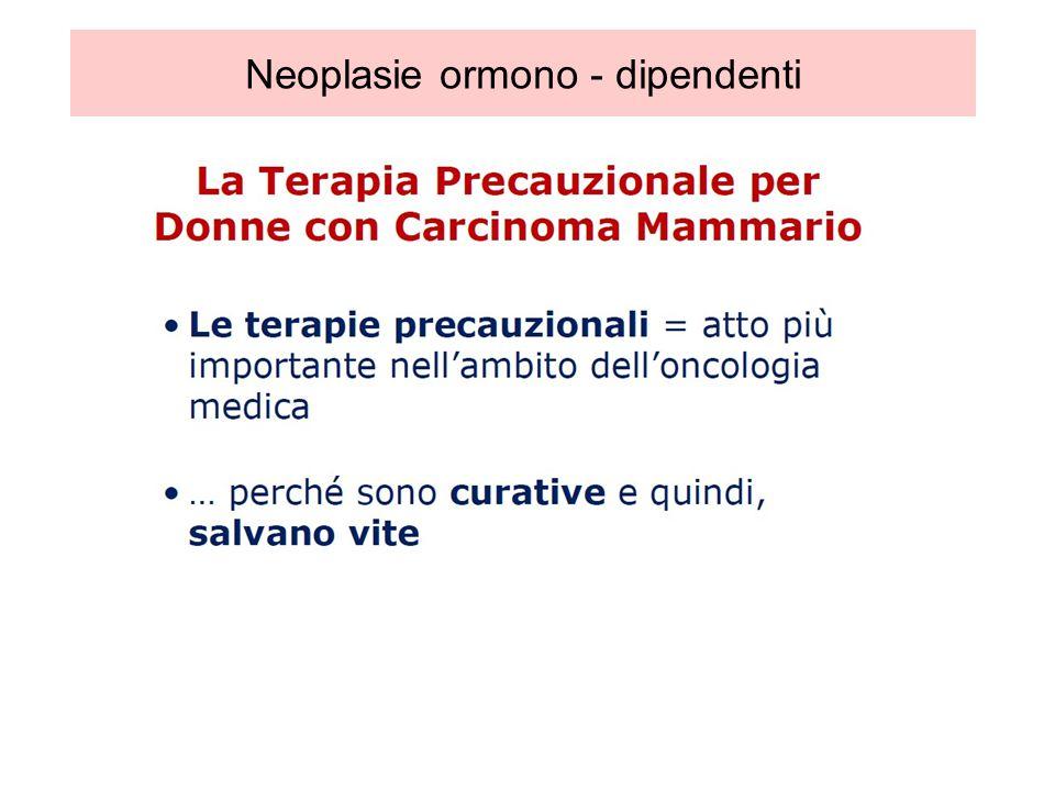 Deludente ad oggi, lassenza di una Significativa riduzione del rischio di morte per carcinoma mammario Dowsett, JCO 2010