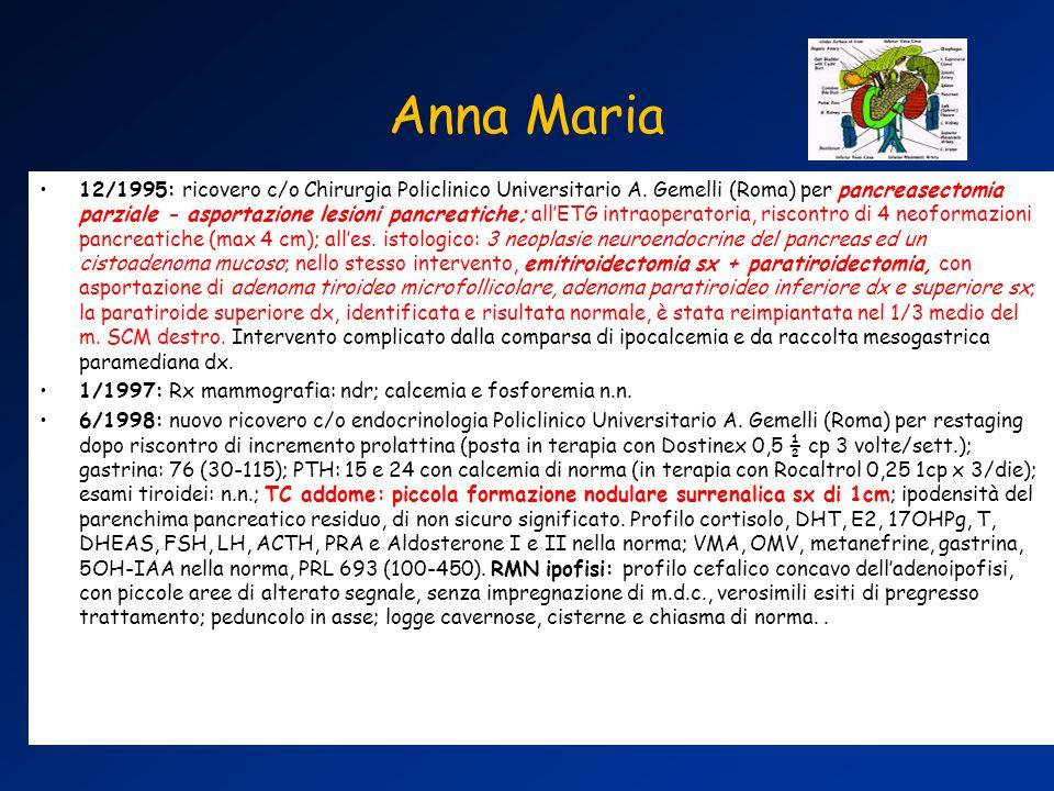 12/1995: ricovero c/o Chirurgia Policlinico Universitario A.
