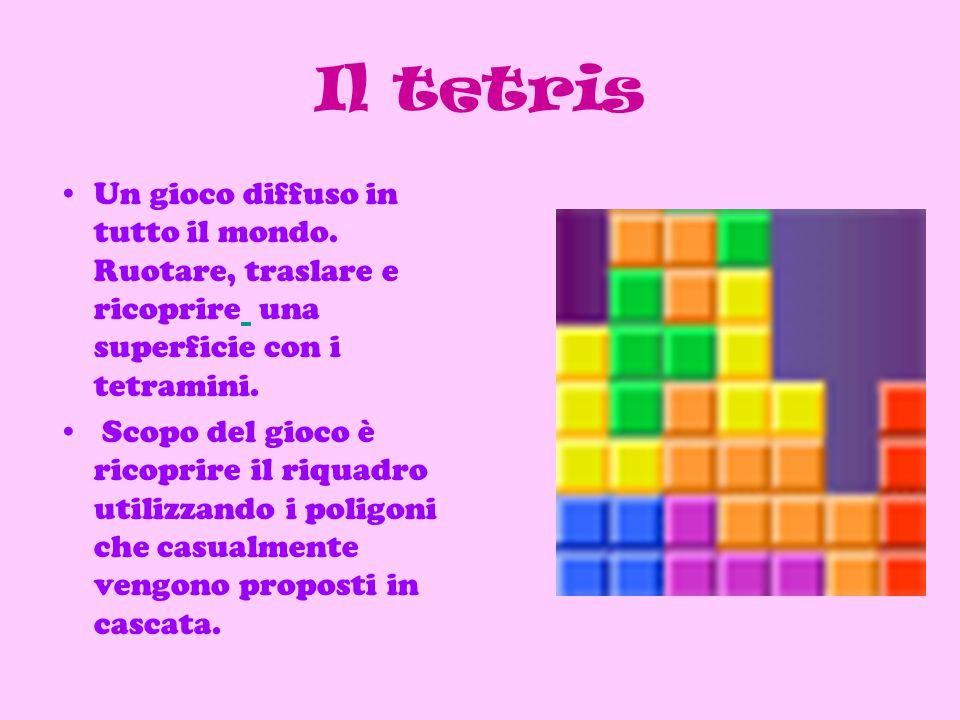 Il tetris Un gioco diffuso in tutto il mondo.