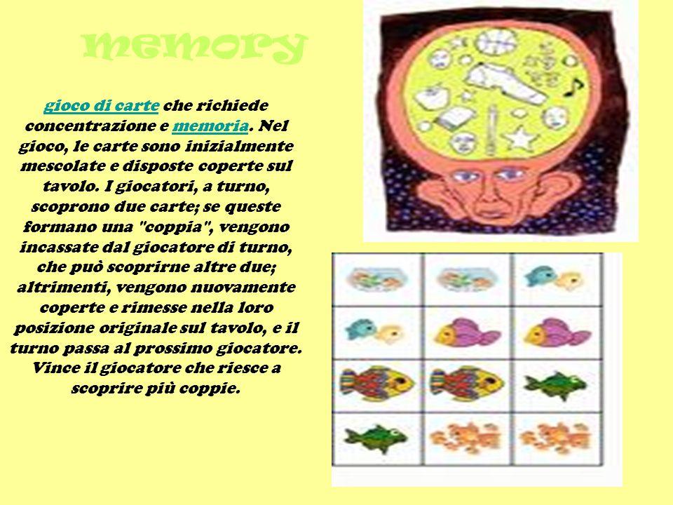 memory gioco di cartegioco di carte che richiede concentrazione e memoria.