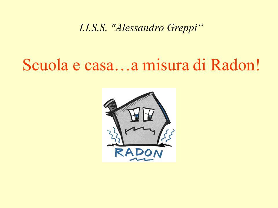 I.I.S.S. Alessandro Greppi Scuola e casa…a misura di Radon!