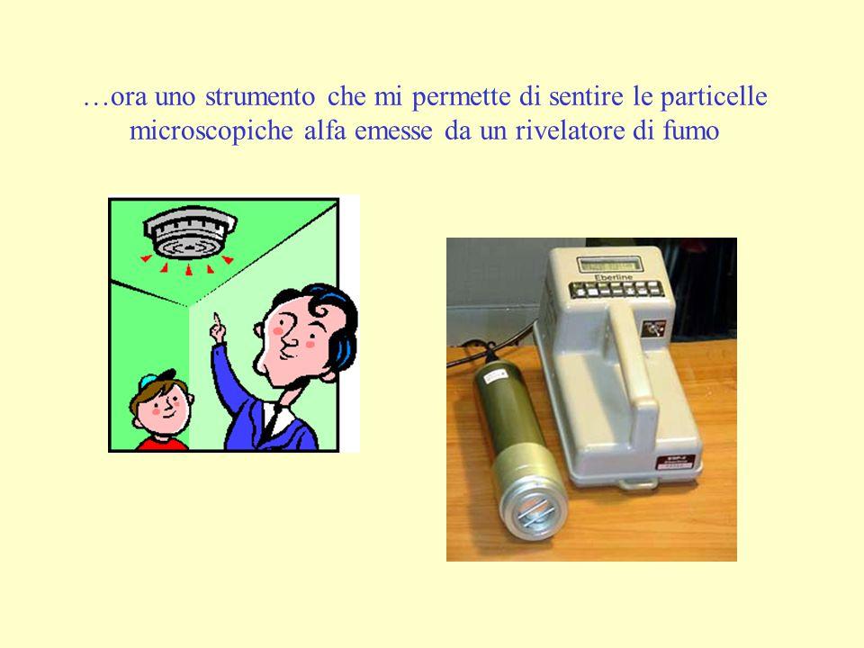 …ora uno strumento che mi permette di sentire le particelle microscopiche alfa emesse da un rivelatore di fumo