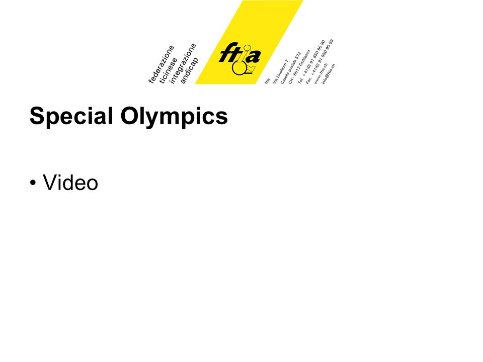 Special Olympics Video