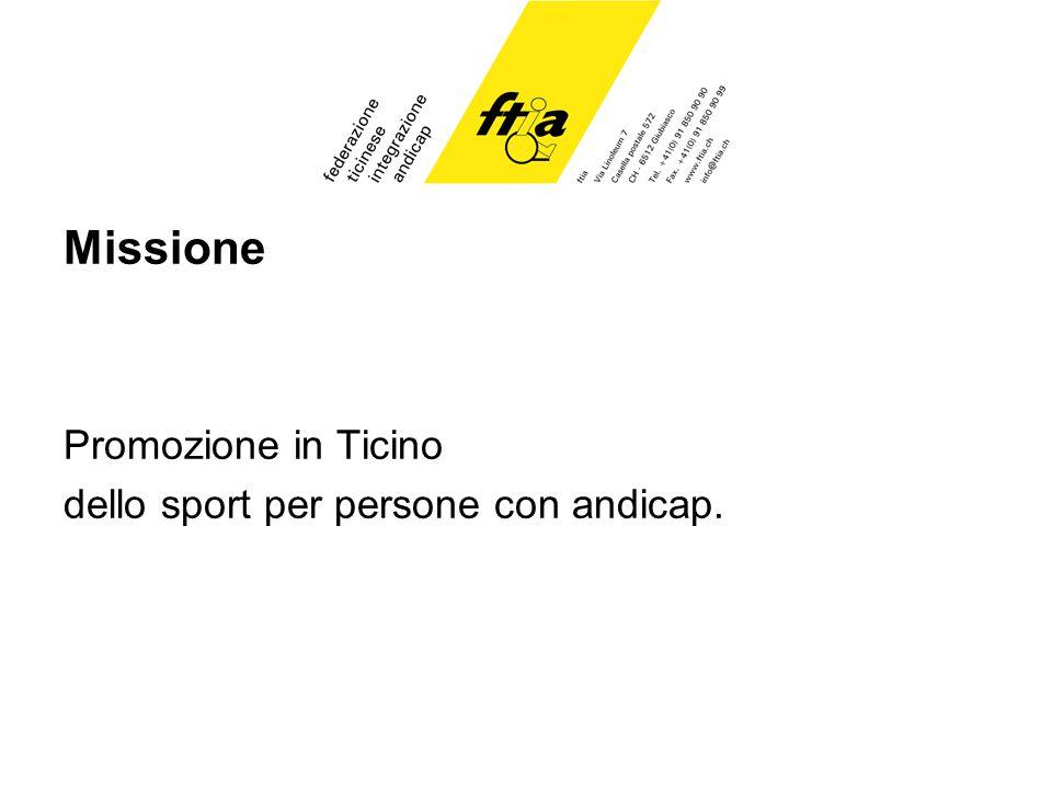 Missione Promozione in Ticino dello sport per persone con andicap.