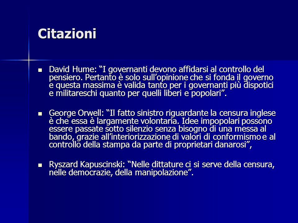 Citazioni David Hume: I governanti devono affidarsi al controllo del pensiero.