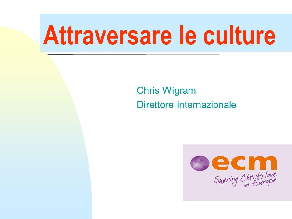 Attraversare le culture Chris Wigram Direttore internazionale