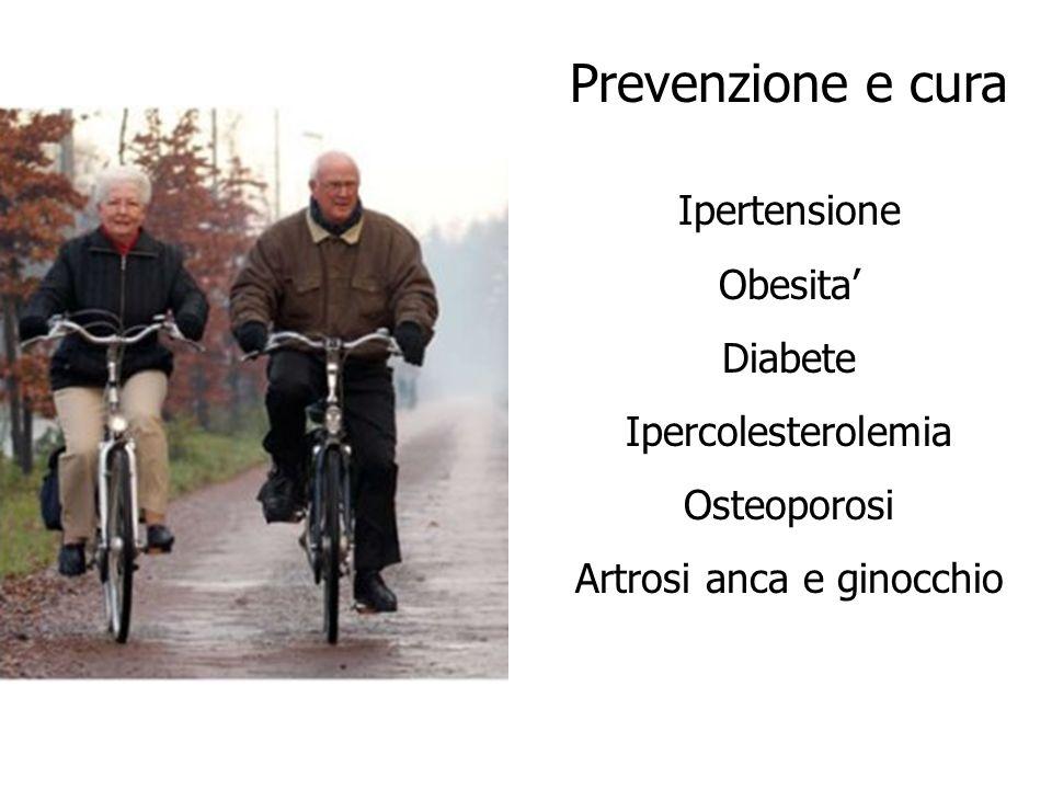Prevenzione e cura Ipertensione Obesita Diabete Ipercolesterolemia Osteoporosi Artrosi anca e ginocchio